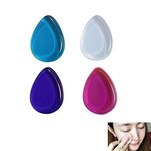 niceEshop(TM) 4pcs Silicone Makeup Sponge Powder Puffs Silicone Makeup Puffs - 4 Colors