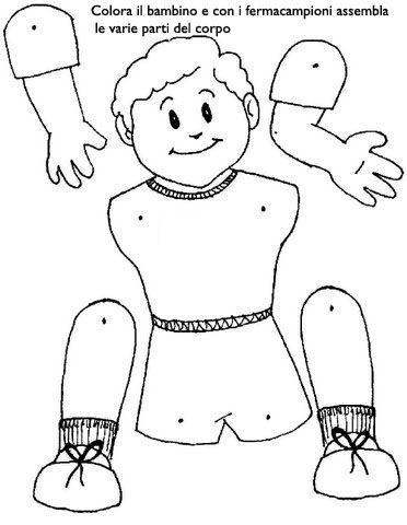 Risultati immagini per schede didattiche corpo umano scuola infanzia