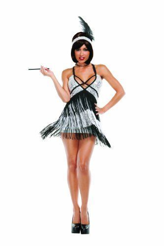 This is one of my favorite Sexy Halloween Costumes for Women  for Halloween 2017. You can elevate this  ladies Halloween costumes with the right Halloween jewelry, Halloween makeup  and of course the right pair of Halloween shoes. Overall one of the best sexy women's  Halloween Costume Idea      Starline Sexy Roaring 20s Boardwalk Flapper Women's Costume, Silver/Black, Medium