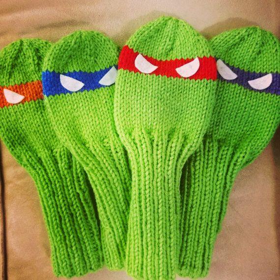Knitting Pattern For Teenage Mutant Ninja Turtles : Pattern: Teenage Mutant Ninja Turtles Golf Club by SundaesShop Ideas Pint...