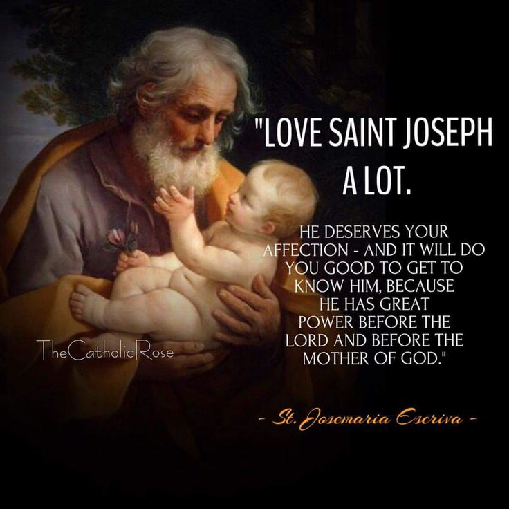 St. Joseph is a saint who is payed attention to the least.  yet he was the foster father of Christ.