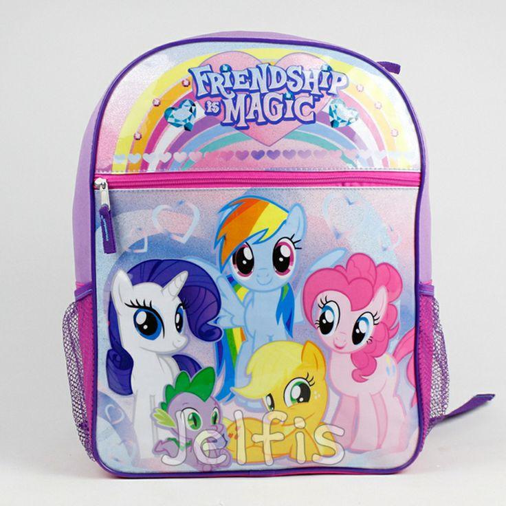 Jelfis.com - My Little Pony Backpack - 16' Large Friendship Magic Girls School Book Bag Dash, $17.99 (http://www.jelfis.com/my-little-pony-backpack-16-large-friendship-magic-girls-school-book-bag-dash/)