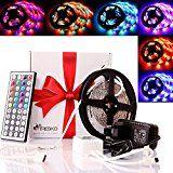 sparen25.info , sparen25.com#10: TRESKO® 5m RGB LED Strip Licht Streifen Band mit 300 LEDs (SMD3528), 20 Farben wählbar,…sparen25.de