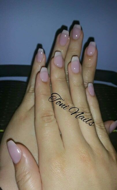 Overlays with American French manicure