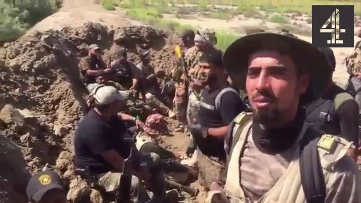 Abu Azrael in Narimiya near Fallujah with military heroes and the crowd ...