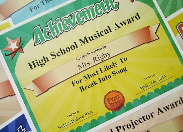 19 best Funny Teacher Awards images on Pinterest Teacher awards - Silly Certificates Awards Templates