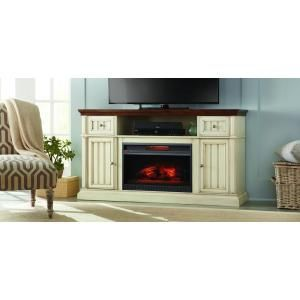 Home Decorators Collection Montauk Shore 60 in. Media Electric Fireplace in Antique White and Medium Cherry Finish-WSFP60ECHD-19 - The Home Depot