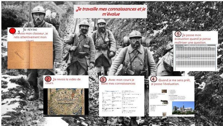 Activité en classe inversée 1ere Guerre mondiale 3eme : capsule, quiz formatif et sommatif, activité et HdA @OQuinet