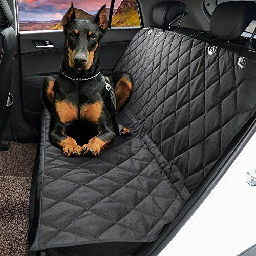 "Dog Seat CoverEVELTEK Luxury Universal Pet Hammock Barriers X-Large 152x147cm /60""x58"" Nonslip & Waterproof Car Travel Seat CoversProtection for Back SeatFit for SUVsCarsTrucks & Vehicles-Black"