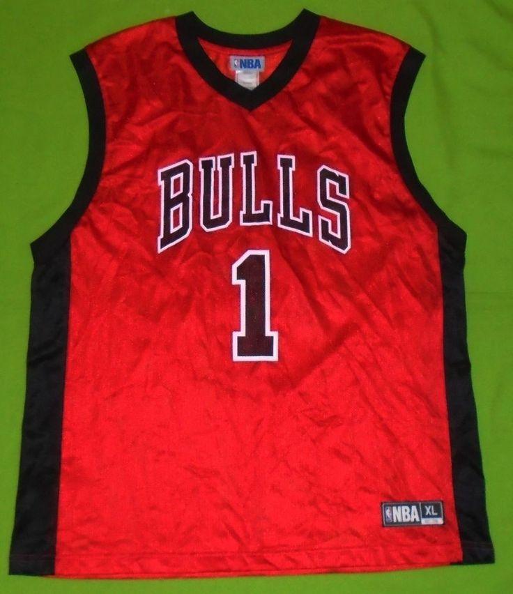 NBA Chicago BULLS #1 Derrick Rose Basketball Jersey Team Apparel Men size XL #ChicagoBulls