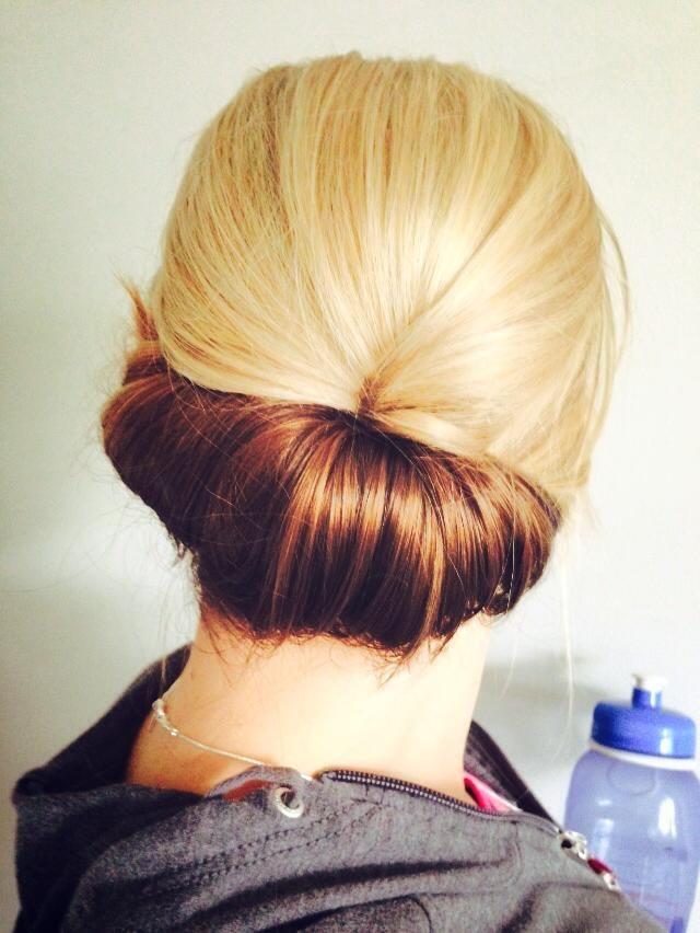 Casual way to keep hair up #hair Studio, Oshawa, Ontario