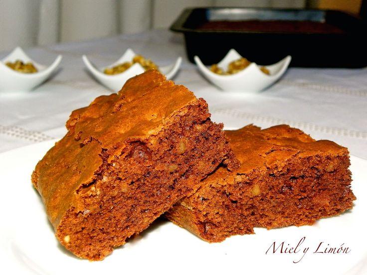 Miel y Limón : BROWNIE de Chocolate y Nueces