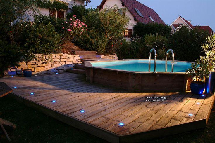 Piscine carrefour ubbink piscine oc a 580 h130cm for Piscine bois carrefour