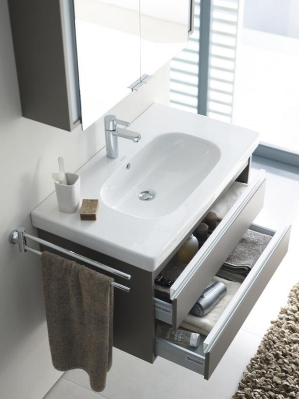 Like the Towel rack on the side of the vanity!  9 Bathroom Vanity Ideas : Bathroom Remodeling : HGTV Remodels