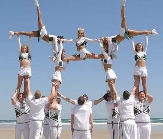 Not just anyone can do this, only cheerleaders can. And this just proves cheerleading is a sport.