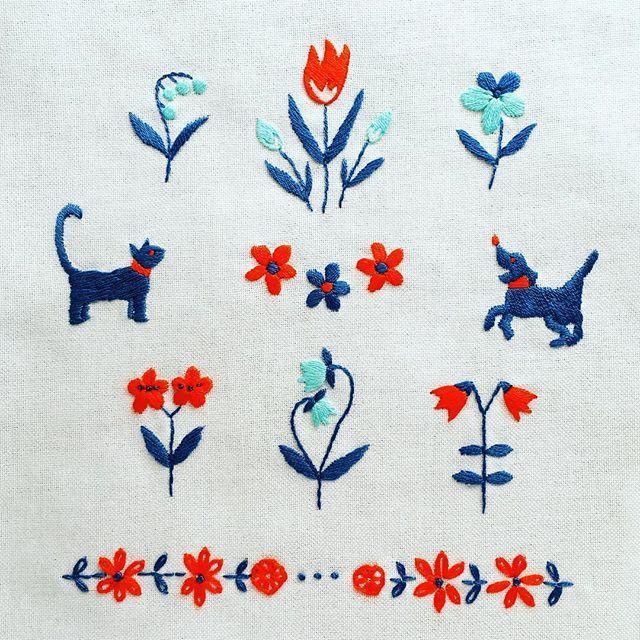 珍しく図案に犬がいました(笑) (2014年制作仕事) . . #刺繍 #embroidery #embroidered #needlework #手芸 #ステッチ #stitching #刺しゅう #暮らしを楽しむ #ハンドメイド #자수 #вышивка #broderie #ししゅう #日々 #暮らし #丁寧な暮らし #日々の暮らし #手作り #ハンドメイド #手芸 #ハンドメイド #暮らしを楽しむ #刺繡 #チクチク部 #手芸部 #ちくちく #sewing #東欧 #ねこら部