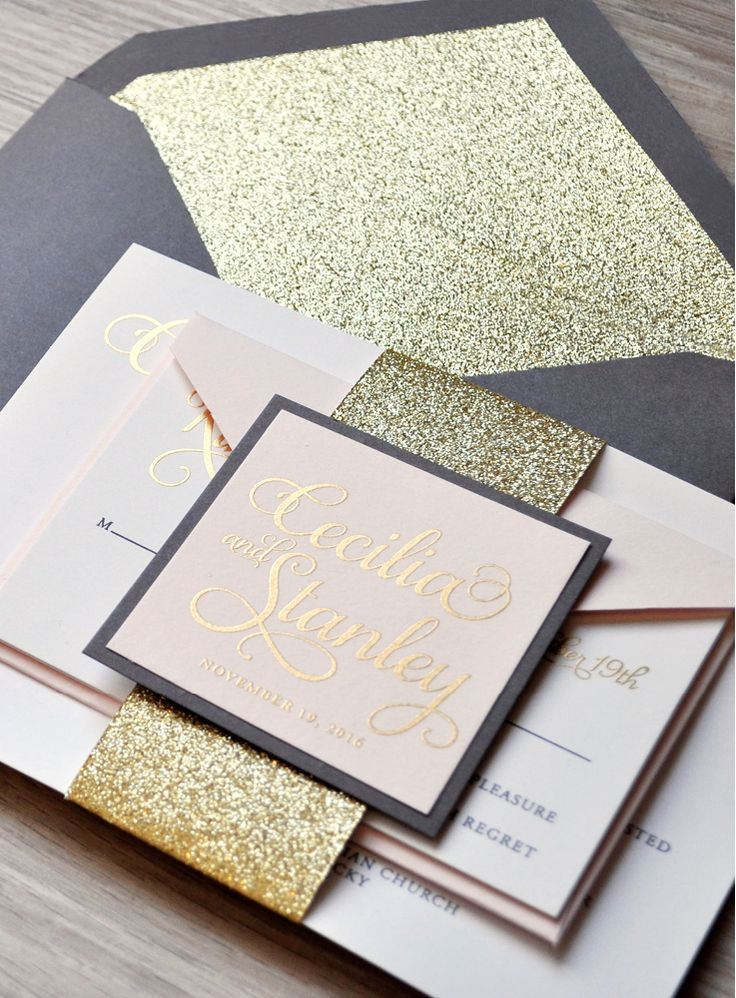 A coal soft pink and gold wedding
