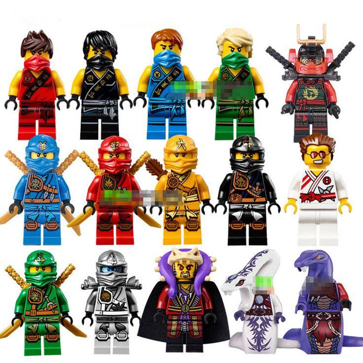 15PCS/Lot Compatible  Ninjagoes  Cole Kai Jay Lloyd Nya Skylor Zane Pythor Chen Building Blocks Toys 2016 Ninja