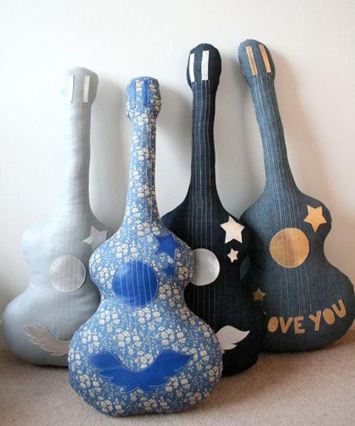 Handmade guitar cushions and pillows by soukshop.com