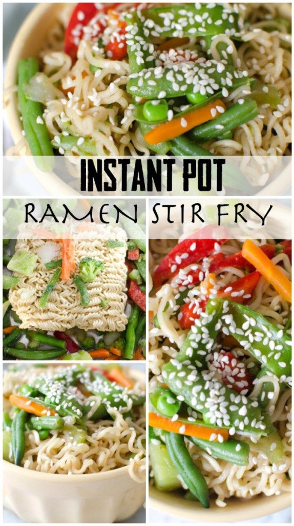 Instant Pot ramen stir fry is an easy weeknight family dinner that is done in under 15 minutes. Can we all sing the Hallelujah Chorus for a picky kid friendly meal? With vegetables? I know this mea…