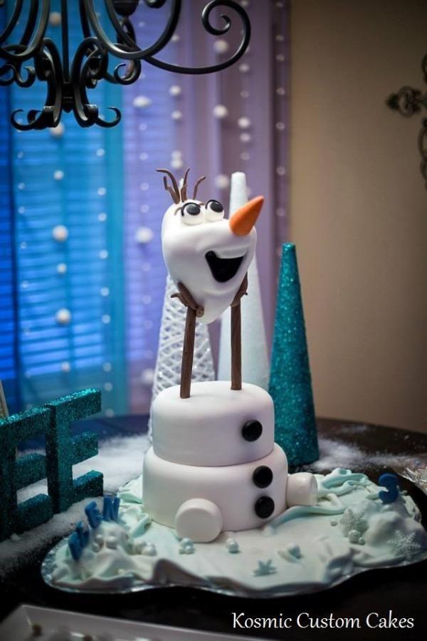 3D Olaf - Cake by Kosmic Custom Cakes