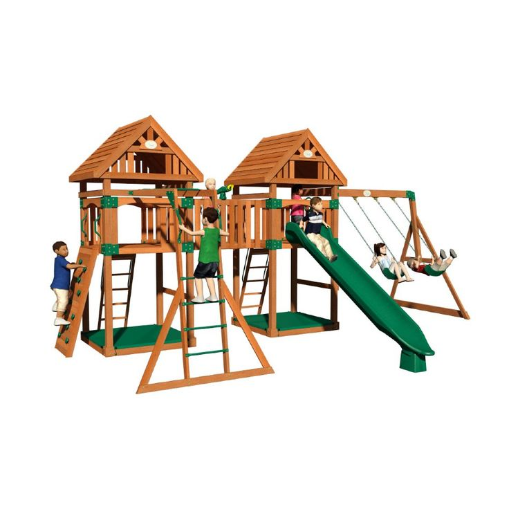20 best backyard for kids images on pinterest backyard for Wooden jungle gym plans