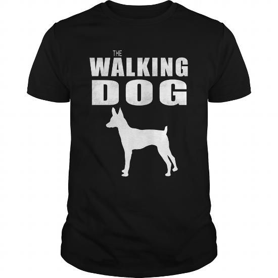Awesome Tee  THE WALKING DOG Toy Fox Terrier T shirts