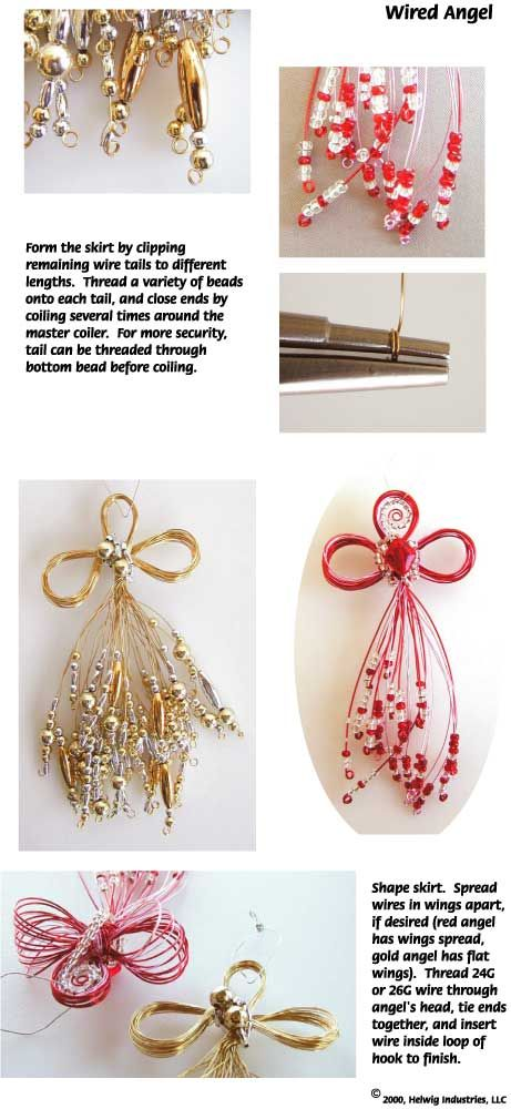 More free instructions for making the Wired Angel Ornament using WigJig jewelry tools to shape jewelry wire.