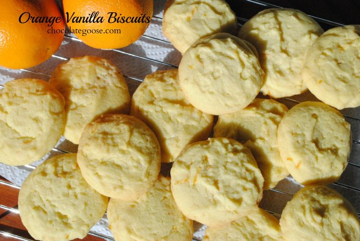 Orange Vanilla Biscuits