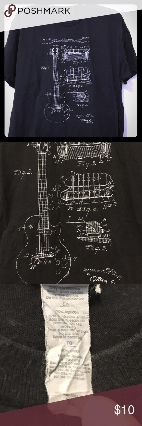 8 best patent print images on pinterest art prints bicycle and mens guitar blueprint tshirt short sleeve previously worn mens black shirt sleeve tshirt with a guitar blueprint design malvernweather Gallery