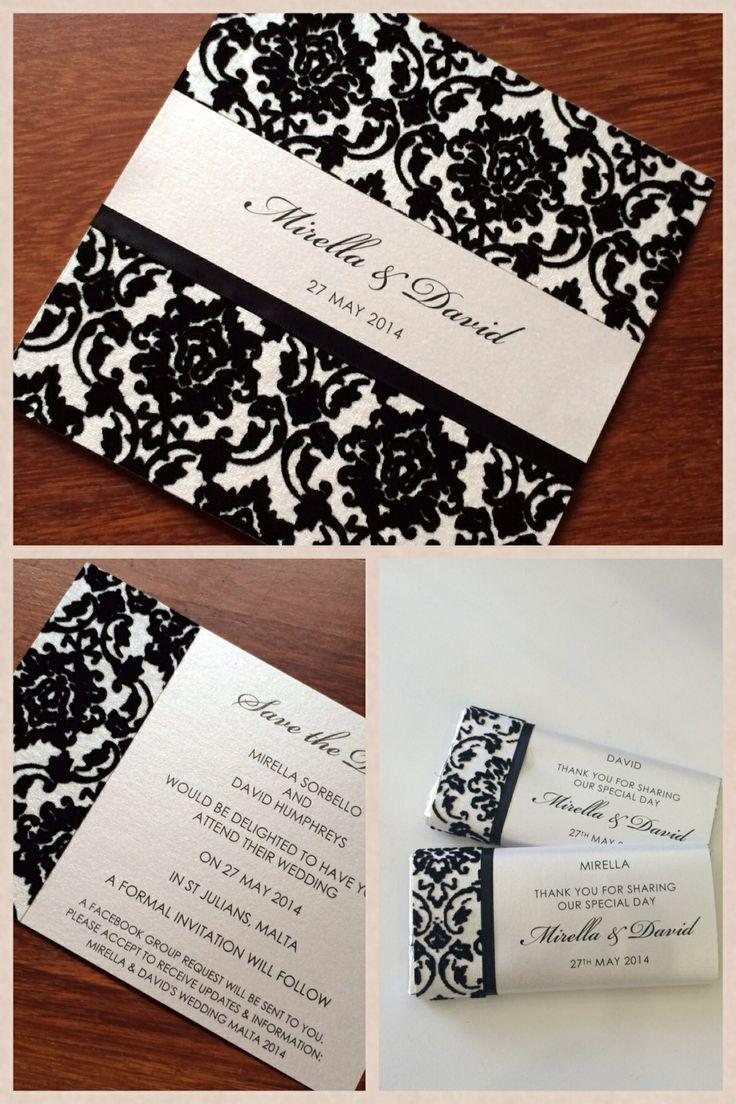 Custom Made Chocolate Bar Placecards