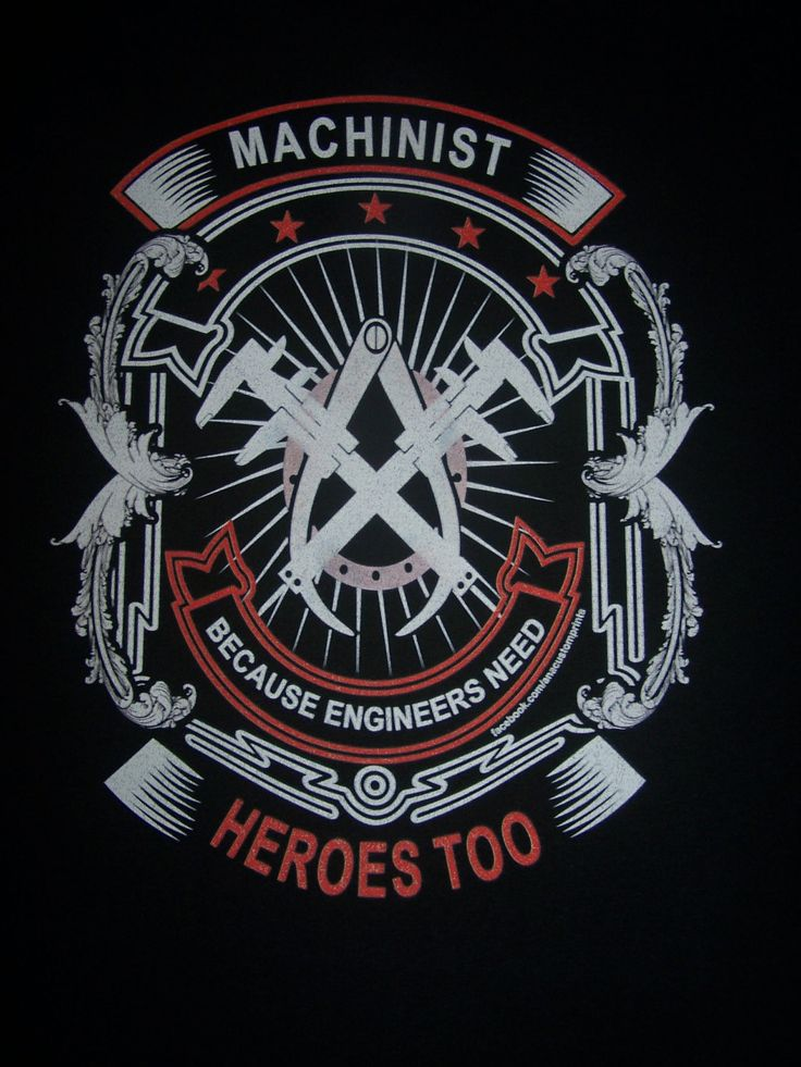 Machinist TShirt Mechanical engineering logo, Machinist