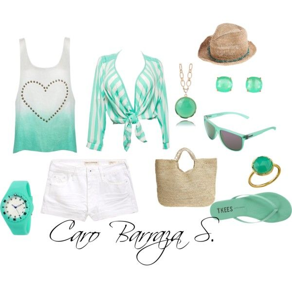"""""""Mar y arena"""" by carobs on Polyvore"""