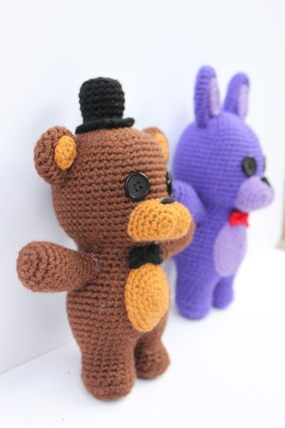 Crochet Pattern: Five Nights at Freddy's Friends Amigurumi
