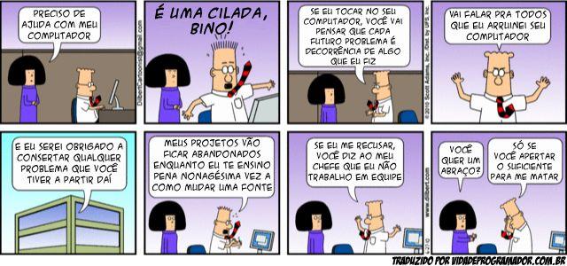 dilbert.png (640×300) - Roubei a tirinha traduzida lá do Vida de Programador.