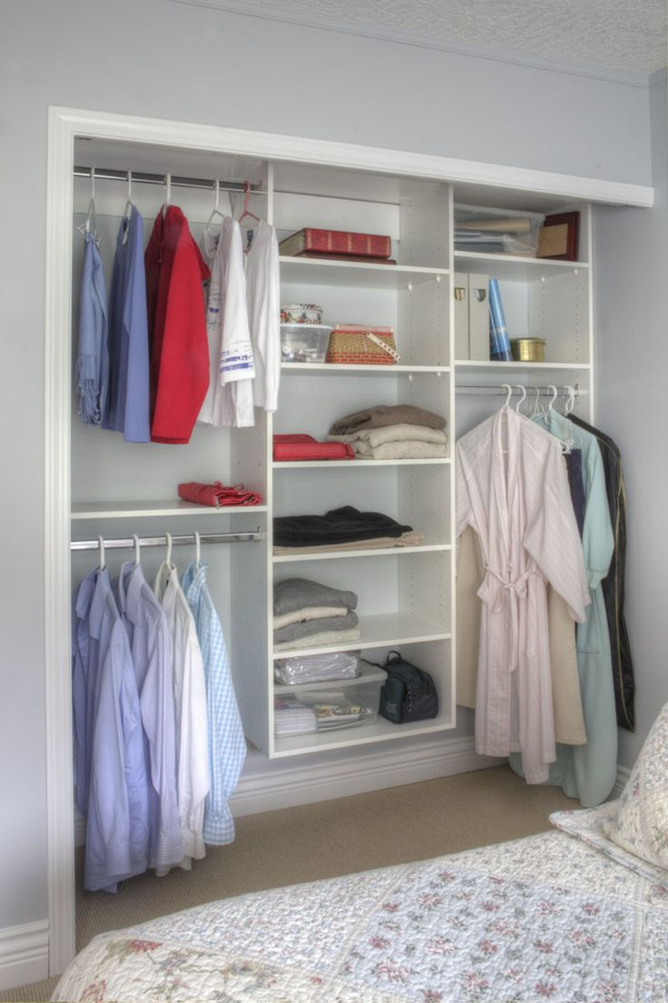 9 storage ideas for small closets install multiple bars for hanging having rods at. Black Bedroom Furniture Sets. Home Design Ideas