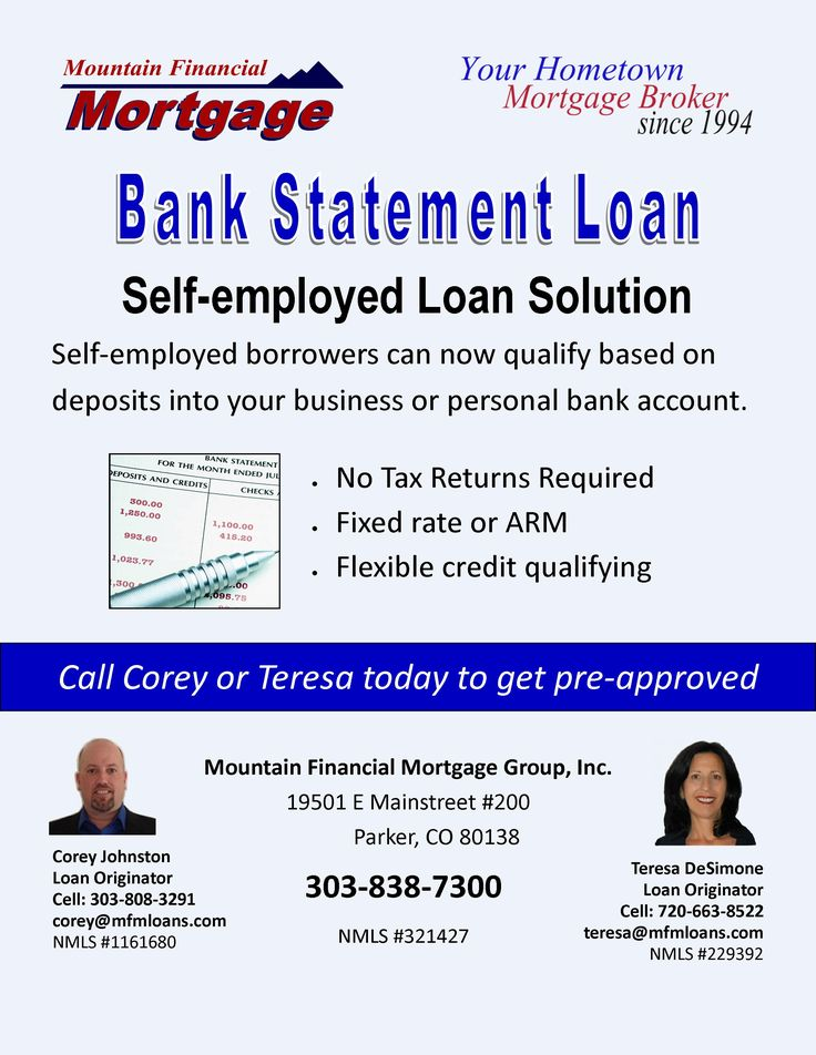 The Bank Statement Loan Program is the financing solution
