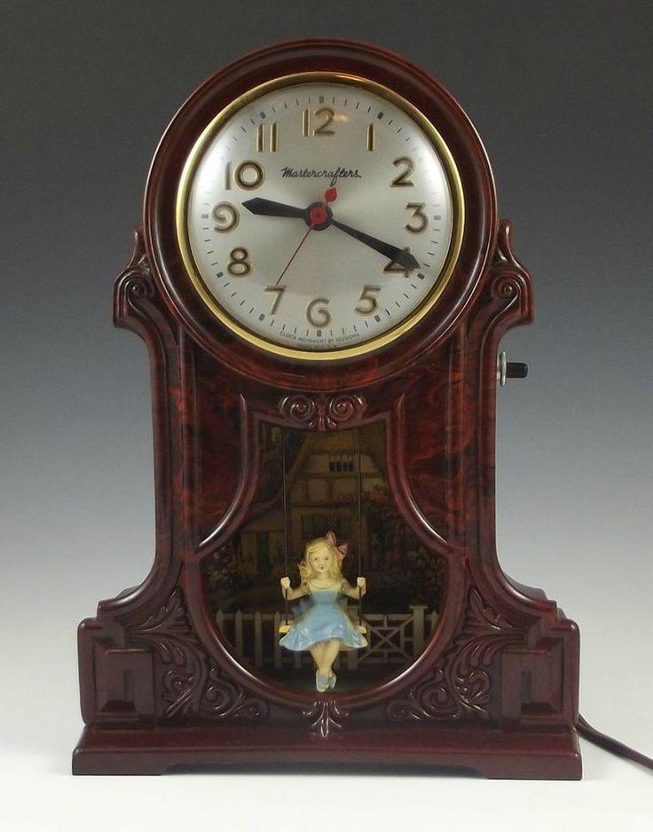swinging girl pendelum clock