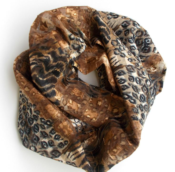 Leopard Print Scarf, Animal Print Scarf, Scarf Necklace, Gifts Under 25, Gifts for Teenage Girls, Fashion Scarves, Skinny Scarf, Teen Gift by foreverandrea on Etsy