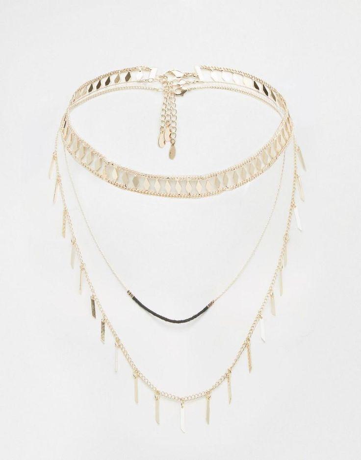 ALDO | ALDO Paenna Multirow Layering Choker Necklaces at ASOS