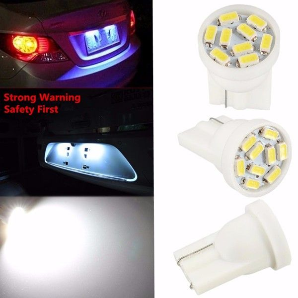 T10 921 3014 LED 9 SMD Chip Car License Plate Lamp Interior Wedge Tail Light Bulb DC12V