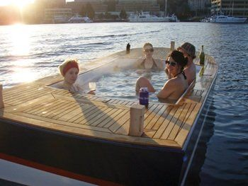 hot tub boat love it pinterest boats lakes and the o 39 jays. Black Bedroom Furniture Sets. Home Design Ideas