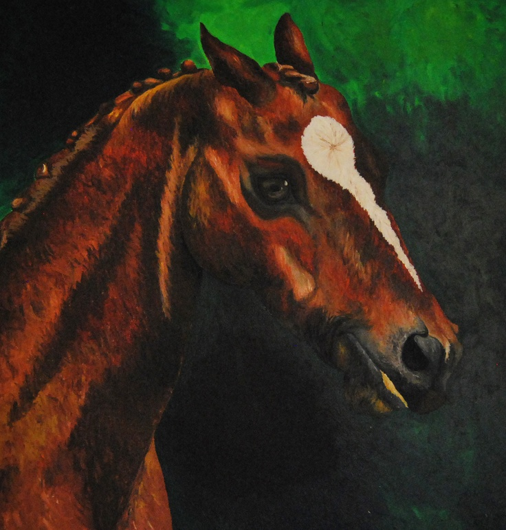 Horse painting, Harriet Gray, Year 12