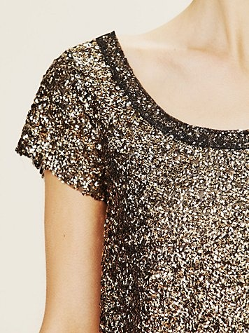 Free People sparkle shirt