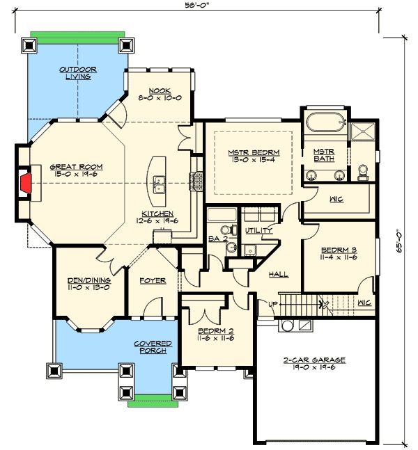 1000 images about home styles on pinterest french for Rambler floor plans with bonus room