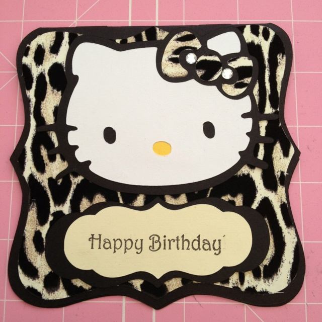 17 Best images about Hello Kitty leopard party – Leopard Print Birthday Card