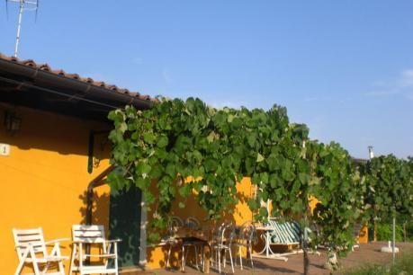 """Casa Reale Due  Studio gelegen binnenkant van een boerderij in de Valle Versa in de provincie Pavia in het zuiden van Lombardije. De boerderij is volledig omringd door wijngaarden (20 ha.) Die fijne witte rode en mousserende wijnen geven. Dit gebied is de grootste in Lombardije voor de productie van wijn. Het appartement ligt op de begane grond of eerste verdieping. Gedeeld terras met uitzicht op de wijngaarden van Chardonnay een ruimte die uitnodigt tot de hele dag live op """"open air""""…"""
