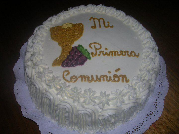 Pasteles De Primera Comunion | torta de pina con bizcocho de chocolate diseno de primera comunion 20 ...