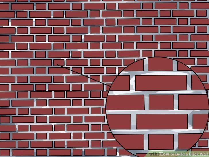 gerade gemauerte Wand