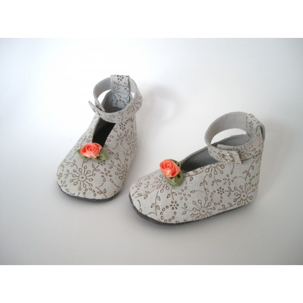 #bruids #ballerina #babyschoentjes met roosje van Little King's